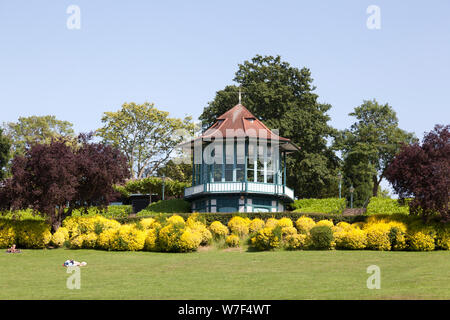 The Bandstand at the Horniman Gardens, Forest Hill, London - Stock Photo