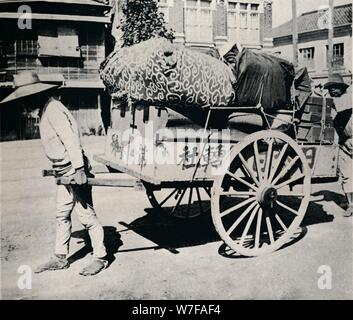 'The Japanese are not slave to possessions. Most can move house by hand-cart', c1900, (1921).  Artist: Julian Leonard Street. - Stock Photo