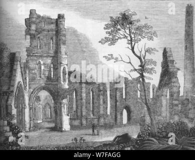 'Cathedral of Kildare', 1845. Artist: Unknown. - Stock Photo