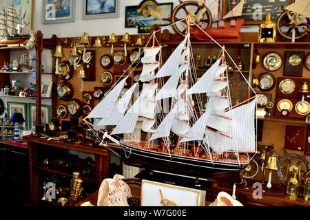 Nautical shop in VARNA - Black Sea - BULGARIA - Stock Photo