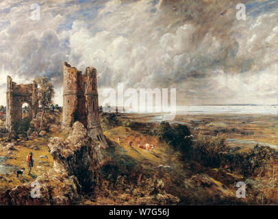 John Constable, Hadleigh Castle, The Mouth of the Thames Morning after a Stormy Night, landscape painting, 1829 - Stock Photo