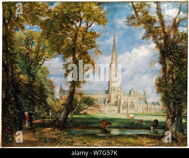 John Constable, landscape painting, Salisbury Cathedral from the Bishop's Grounds, circa 1825 - Stock Photo