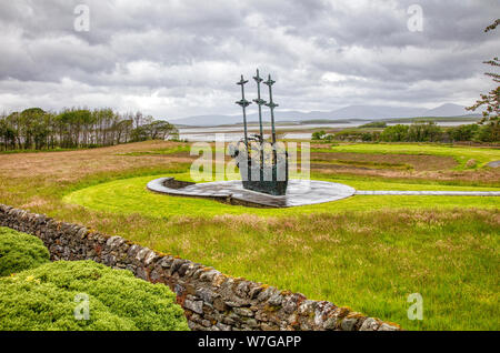 National Famine Memorial depicting a Coffin Ship in Murrisk. County Mayo, Ireland - Stock Photo