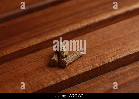 licorice stick ideal for cocktails with vodka - Stock Photo