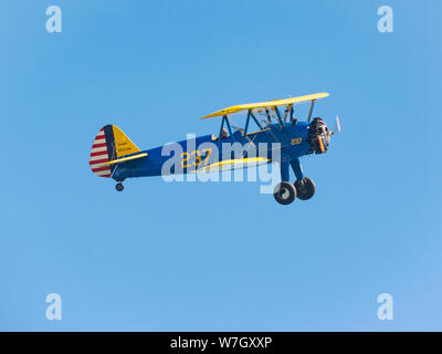 Acrobatic air show in ladispoli, italy - Stock Photo