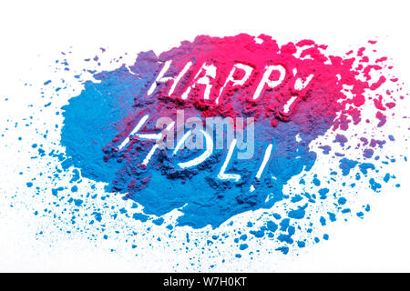 abstract powder splatted background. Colorful powder explosion on white background. Colored cloud. Colorful dust explode. Paint Holi. - Stock Photo