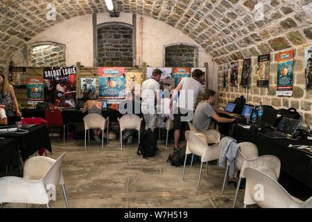 Festival Bout du Monde 2019 à Crozon Brittany - Stock Photo