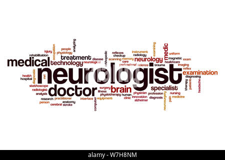 Neurologist word cloud concept - Stock Photo