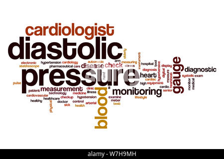 Diastolic pressure word cloud concept - Stock Photo