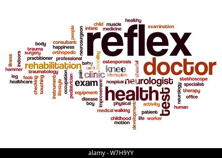 Reflex word cloud concept - Stock Photo