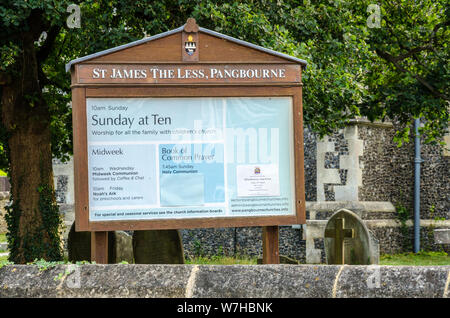 St James the Less Church in Pangbourne, a large village in West Berkshire, UK. - Stock Photo
