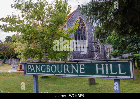 St James the Less Church ion Pangbourne Hill in the village of Pangbourne in west Berkshire, UK - Stock Photo