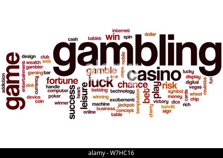 Gambling word cloud concept - Stock Photo