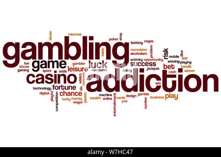 Gambling addiction word cloud concept - Stock Photo
