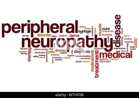 Peripheral neuropathy word cloud concept - Stock Photo