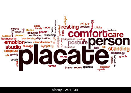 Placate word cloud concept - Stock Photo