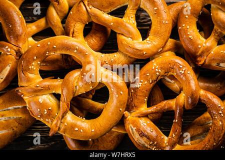 October fest concept - traditional food pretzels - Stock Photo