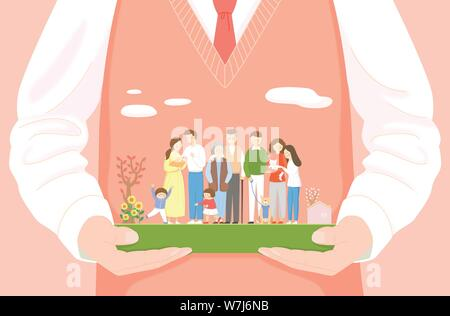 Concept of bible school or camp vector illustration 009 - Stock Photo