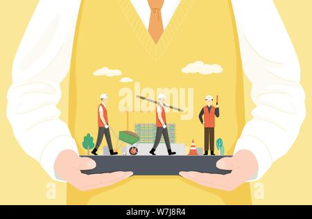 Concept of bible school or camp vector illustration 007 - Stock Photo