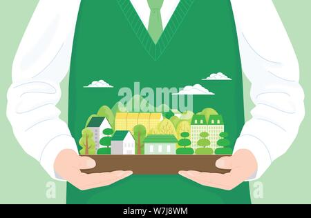 Concept of bible school or camp vector illustration 001 - Stock Photo