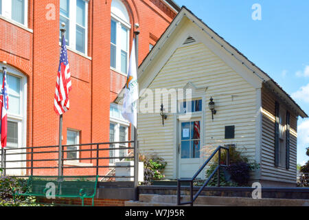 The Skipwith Cottage on the Courthouse Square was built in late 1800's in Oxford, MS, USA - Stock Photo