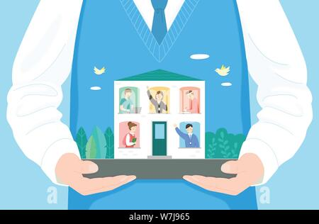 Concept of bible school or camp vector illustration 004 - Stock Photo