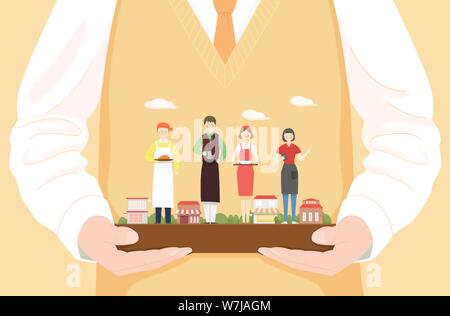 Concept of bible school or camp vector illustration 010 - Stock Photo