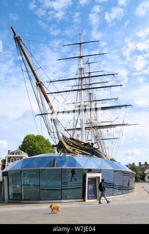 The Cutty Sark, Greenwich, London, England, UK - Stock Photo