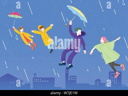 Concept of a happy and loving family vector illustration 004 - Stock Photo