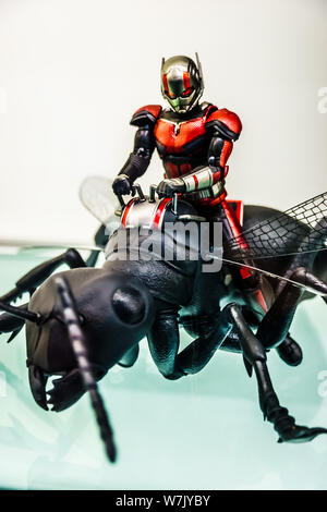 Tokyo, Japan - May 11, 2019: Ant Man on display. Yodobashi Akiba in Akihabara is the ultimate shopping experience when it comes to electronics. - Stock Photo