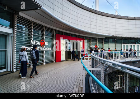 Tokyo, Japan - May 12, 2019: Toyota Mega Web, Museum & showroom featuring Toyota vehicles, concept cars, simulator experiences & test rides. - Stock Photo