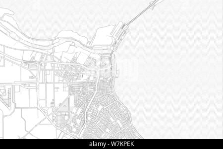 Corpus Christi, Texas, USA, bright outlined vector map with bigger and minor roads and steets created for infographic backgrounds. - Stock Photo