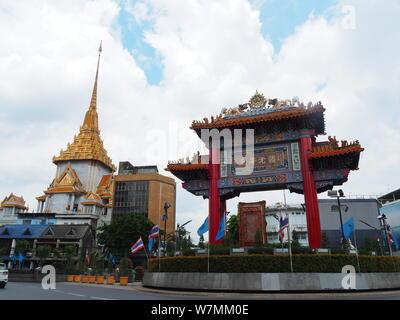 Golden Buddha, Wat traimit Bangkok, Thailand - Stock Photo