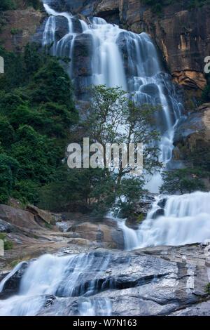 Ravana Ella Falls, Ella Gap, Southern Highlands, Sri Lanka. December 2011. - Stock Photo