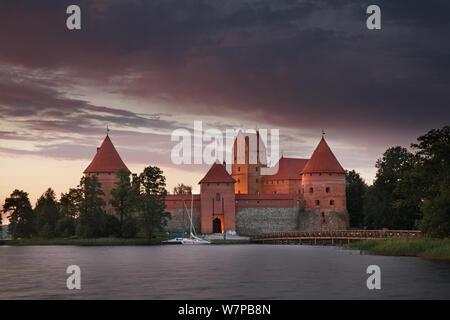 Island Castle in Trakai. Lithuania - Stock Photo