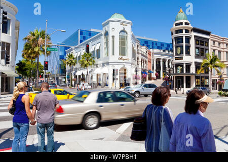 Rodeo Drive in Beverly Hills, Los Angeles, California, USA July 2011 - Stock Photo