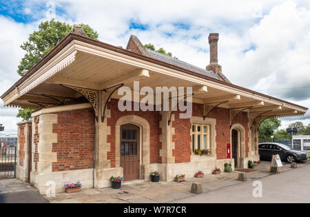 Old ticket office on the Great Western Railway branch line to Oxford, Culham, Oxfordshire, UK - Stock Photo