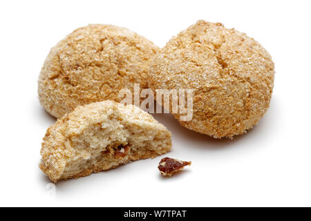Raisin cookies isolated on a white background - Stock Photo
