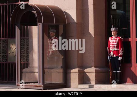 Guard of Honor, Presidential Palace, Sofia, Bulgaria - Stock Photo