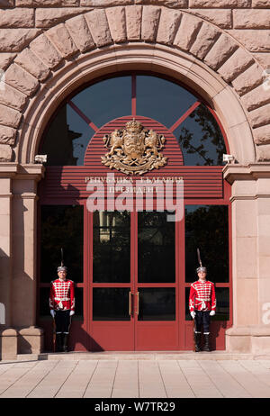Guard of Honor, Presidential Palace, Sofia, Bulgaria - Stock Photo