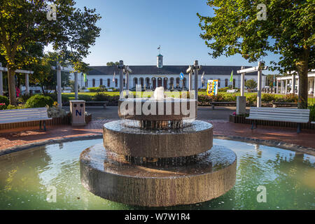norderney fountain on central square, travel germany - Stock Photo