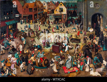 Pieter Bruegel the Elder, painting, The Fight Between Carnival and Lent, 1559 - Stock Photo