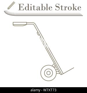 Warehouse Trolley Icon. Editable Stroke Simple Design. Vector Illustration. - Stock Photo