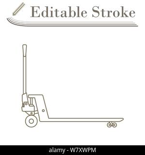 Hydraulic Trolley Jack Icon. Editable Stroke Simple Design. Vector Illustration. - Stock Photo