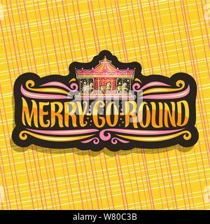 Vector logo for Merry-Go-Round Сarousel - Stock Photo