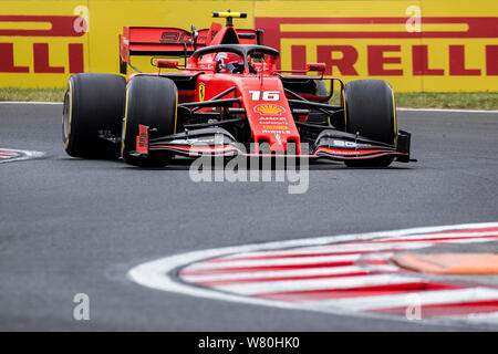 Formula 1 race weekend in the circuit of Hungaroring Mogyoród Hungary on August 2019 - Stock Photo