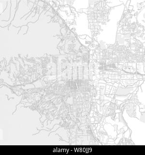 Reno, Nevada, USA, bright outlined vector map with bigger and minor roads and steets created for infographic backgrounds. - Stock Photo