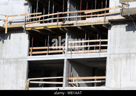Detail of the residential building under construction. - Stock Photo