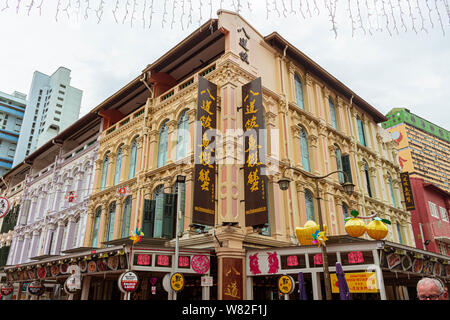 Picture of Chinatown in Singapore - Stock Photo
