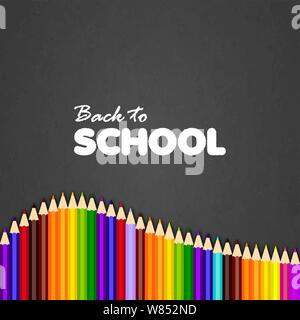 Back to school greeting card. Vector illustration